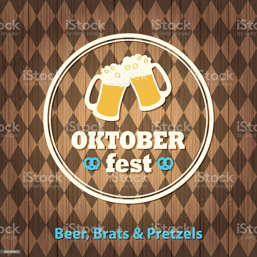 Craft Beer Oktoberfest vector art illustration