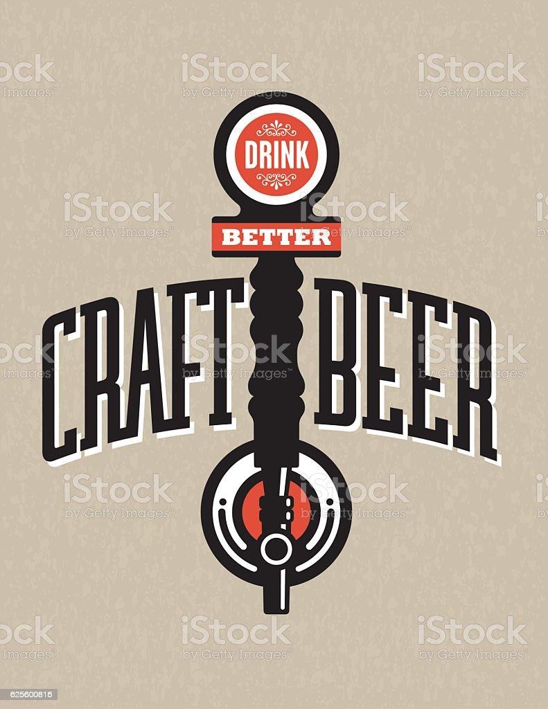 Craft Beer Vector Design vector art illustration