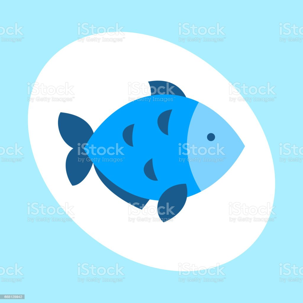 Craft blue fish animal nature food and ecology environment tropical natural thunnus icon isolated saltwater healthy big seafood nature art vector illustration vector art illustration