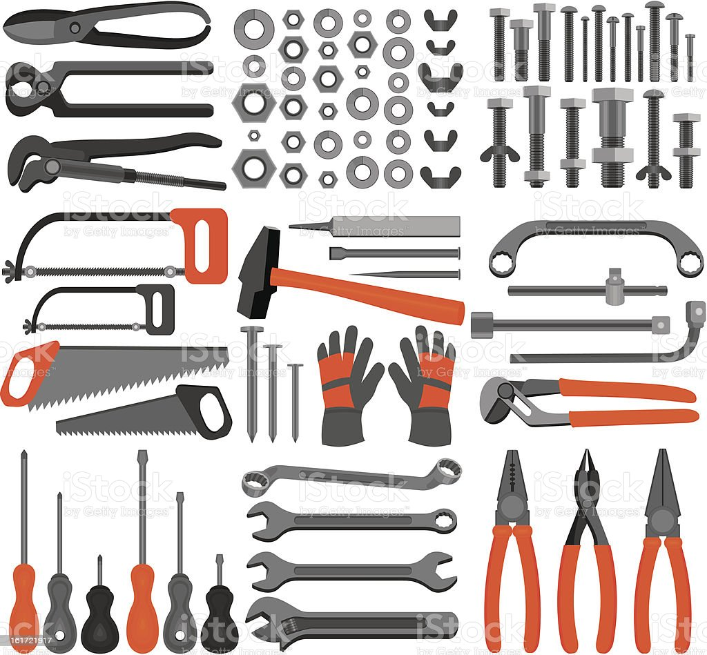 Craft icons – Hand tools (Set 4) royalty-free stock vector art