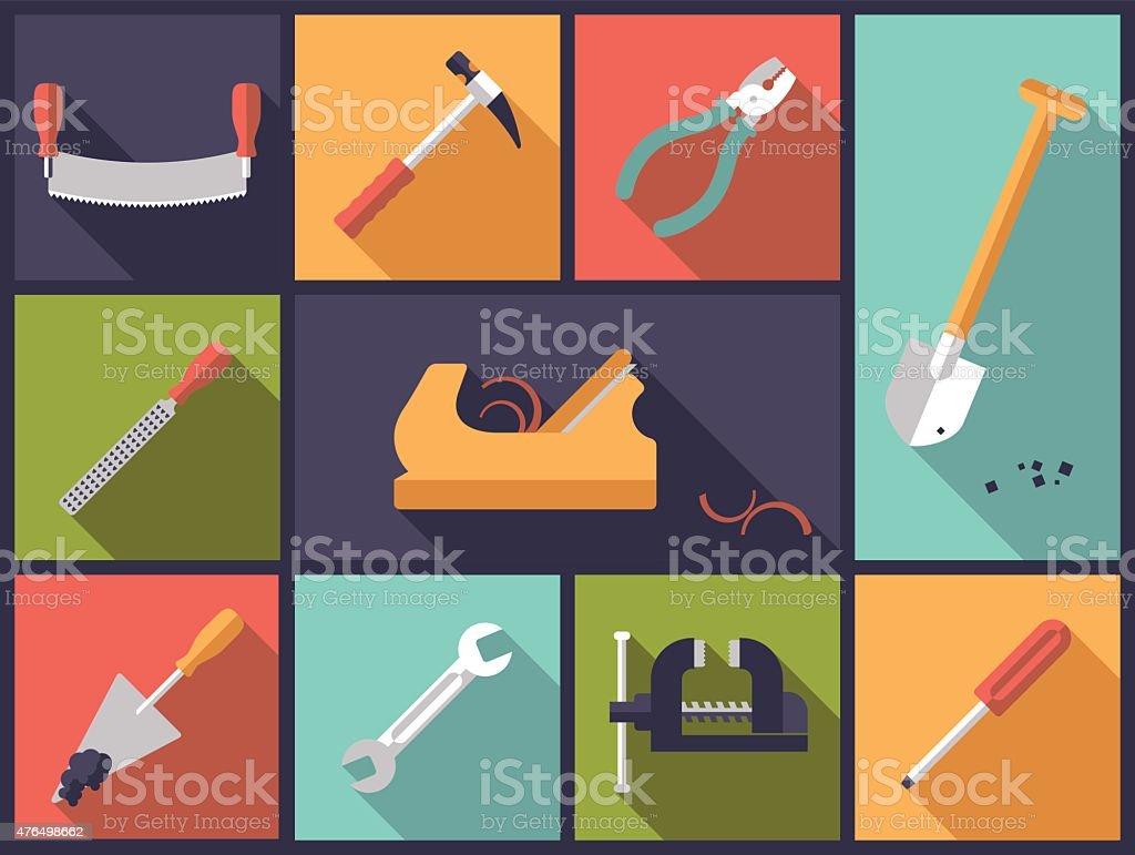 Crafting tools icons vector illustration. vector art illustration