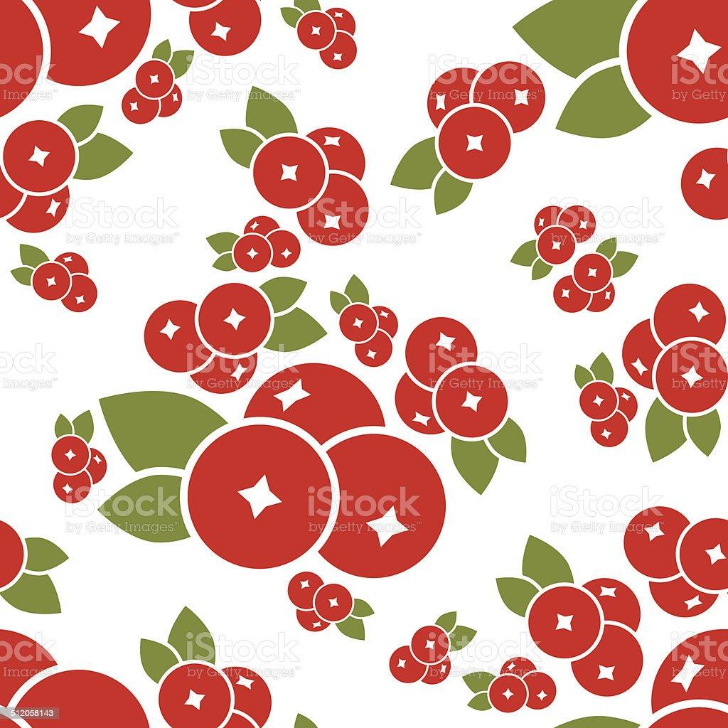 cranberry seamless pattern vector art illustration