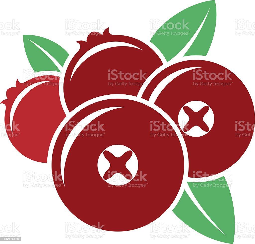 Cranberry. Vector vector art illustration