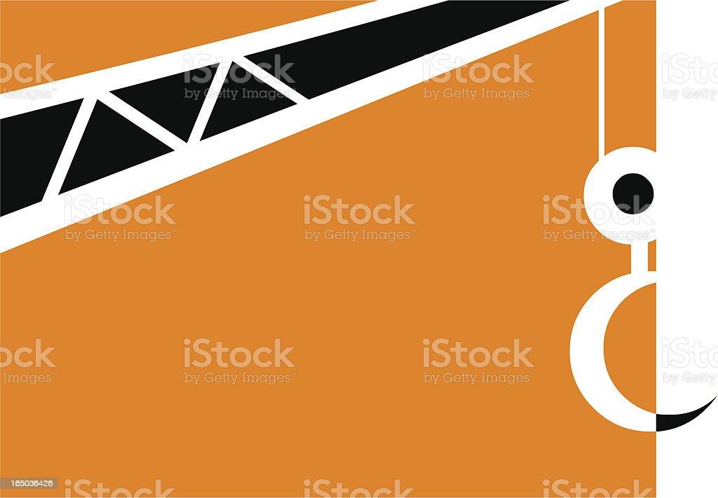 Crane - 2 color vector royalty-free stock vector art