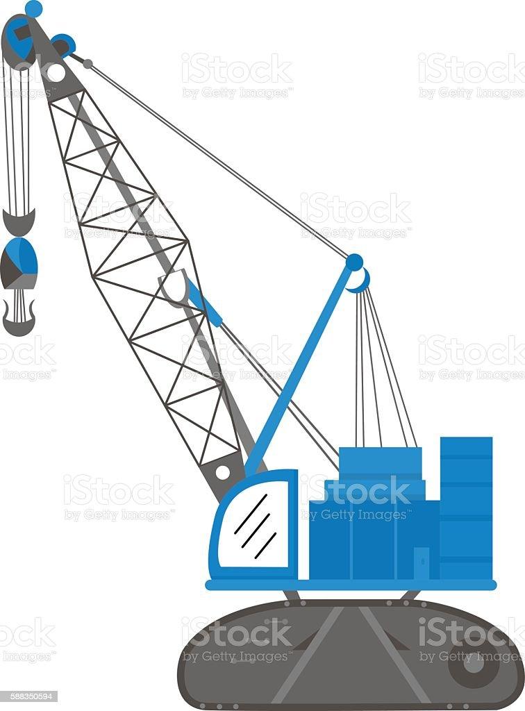 Crane Color vector art illustration