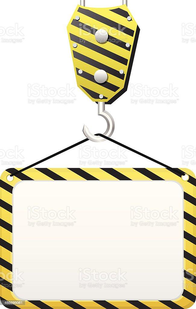 Crane holding Construction board royalty-free stock vector art