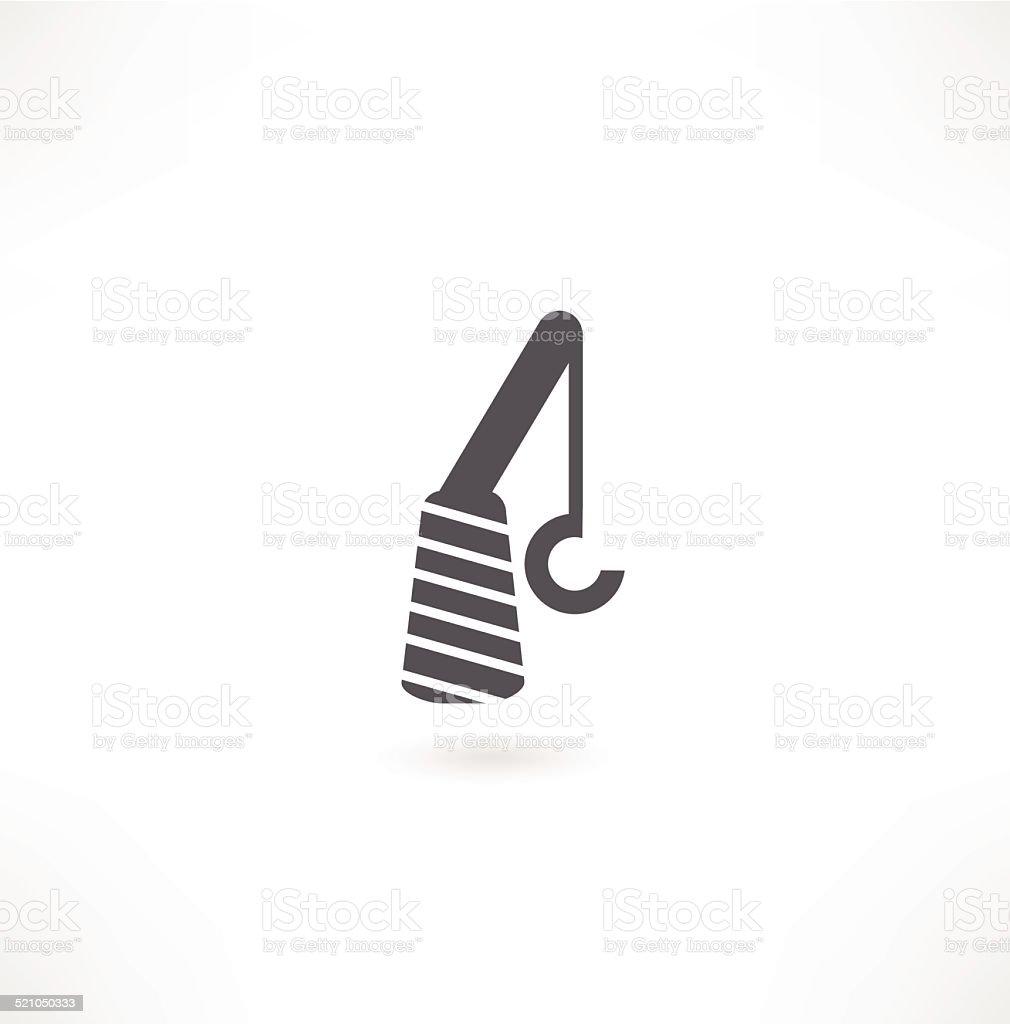 crane hook or pulley symbol vector art illustration