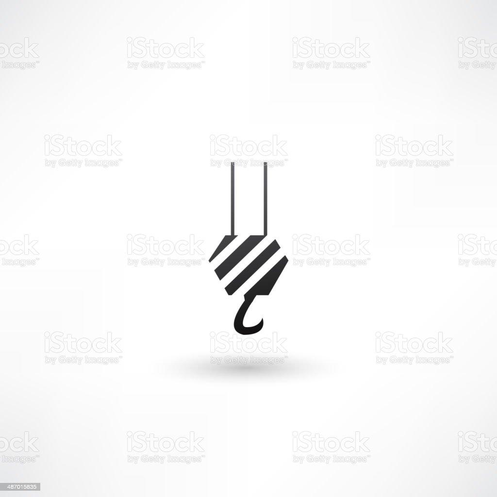 crane icon vector art illustration