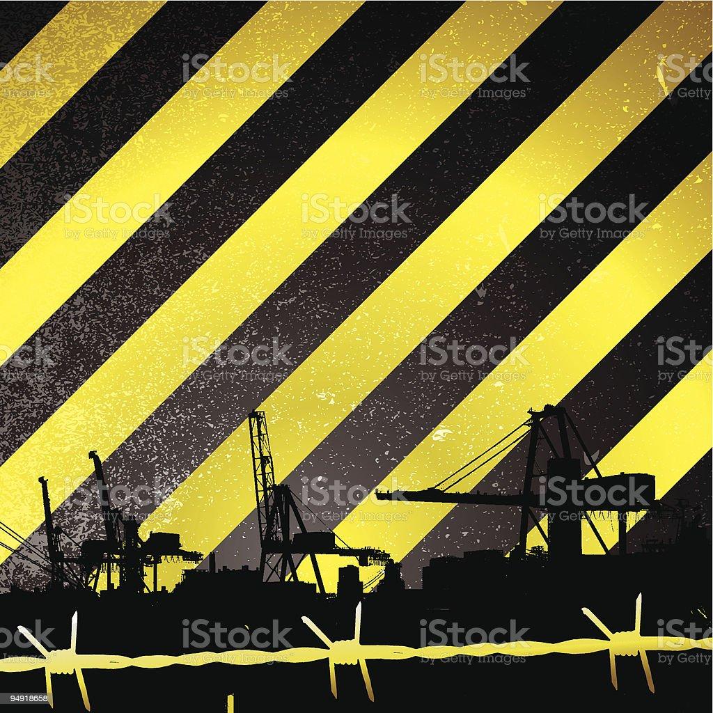 crane stripe royalty-free stock vector art