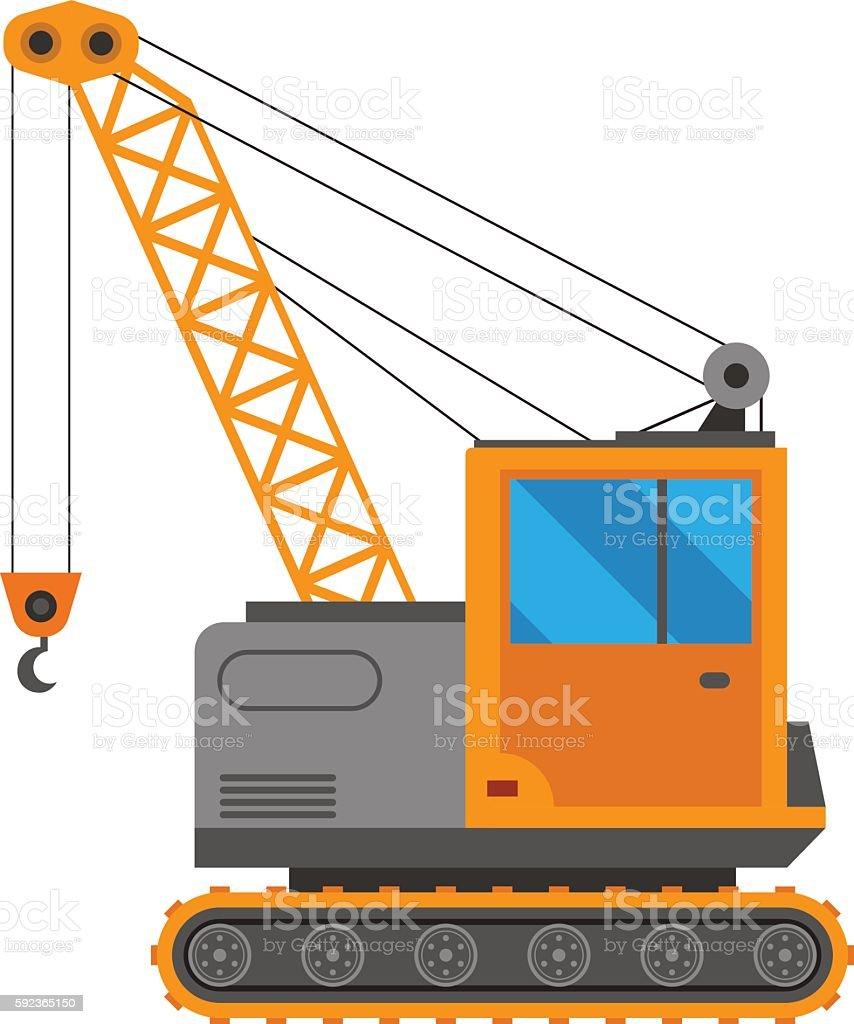 Crane truck vector illustration vector art illustration