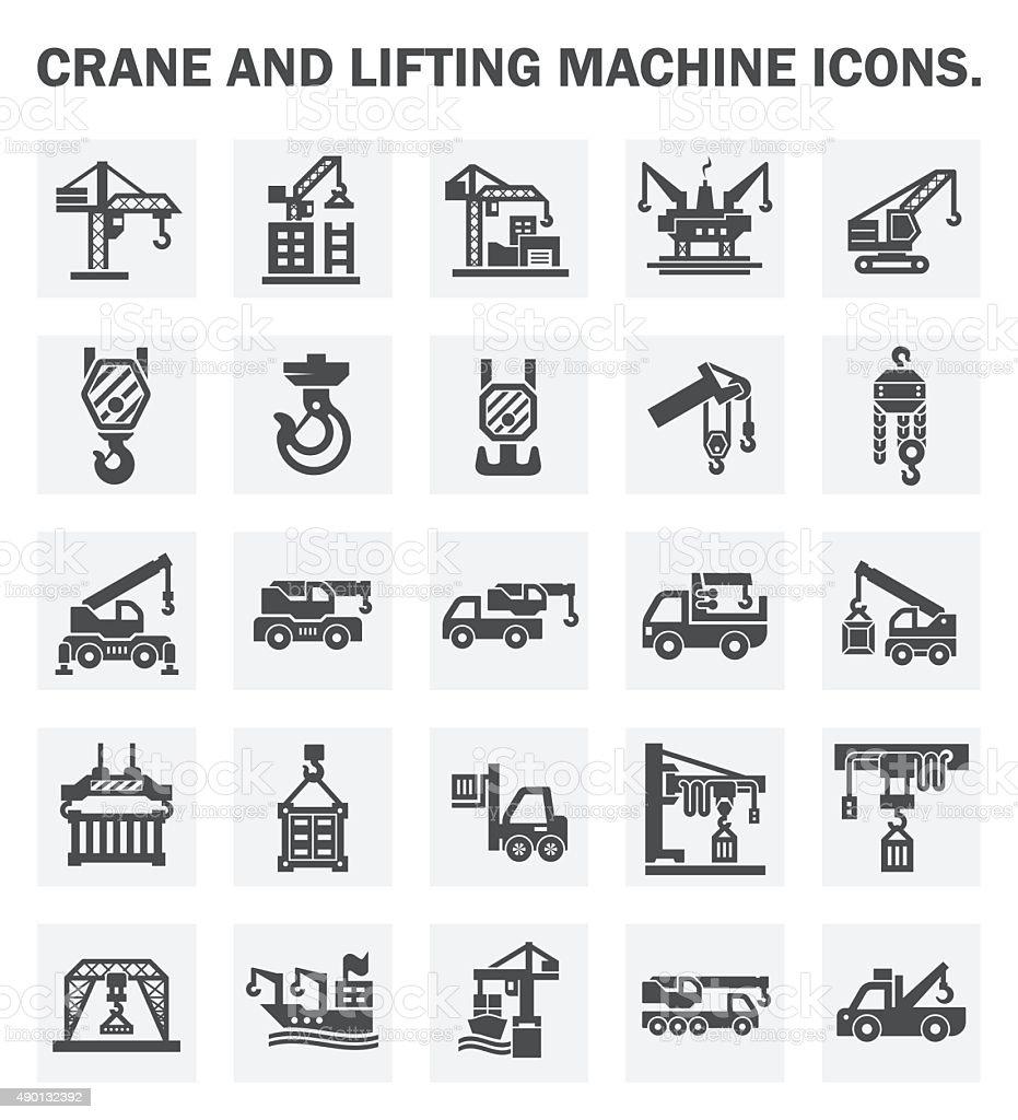 Crane vector art illustration