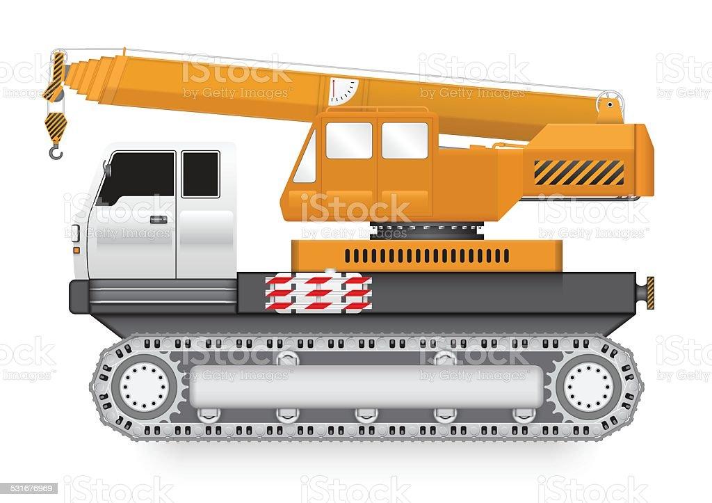 Crane_truck vector art illustration