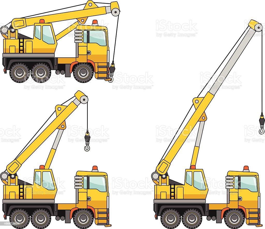 Cranes. Heavy construction machines. Vector illustration vector art illustration