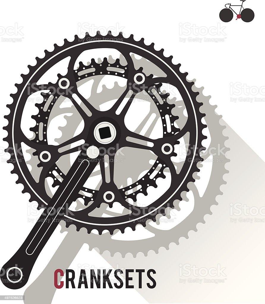 Cranksets vector art illustration