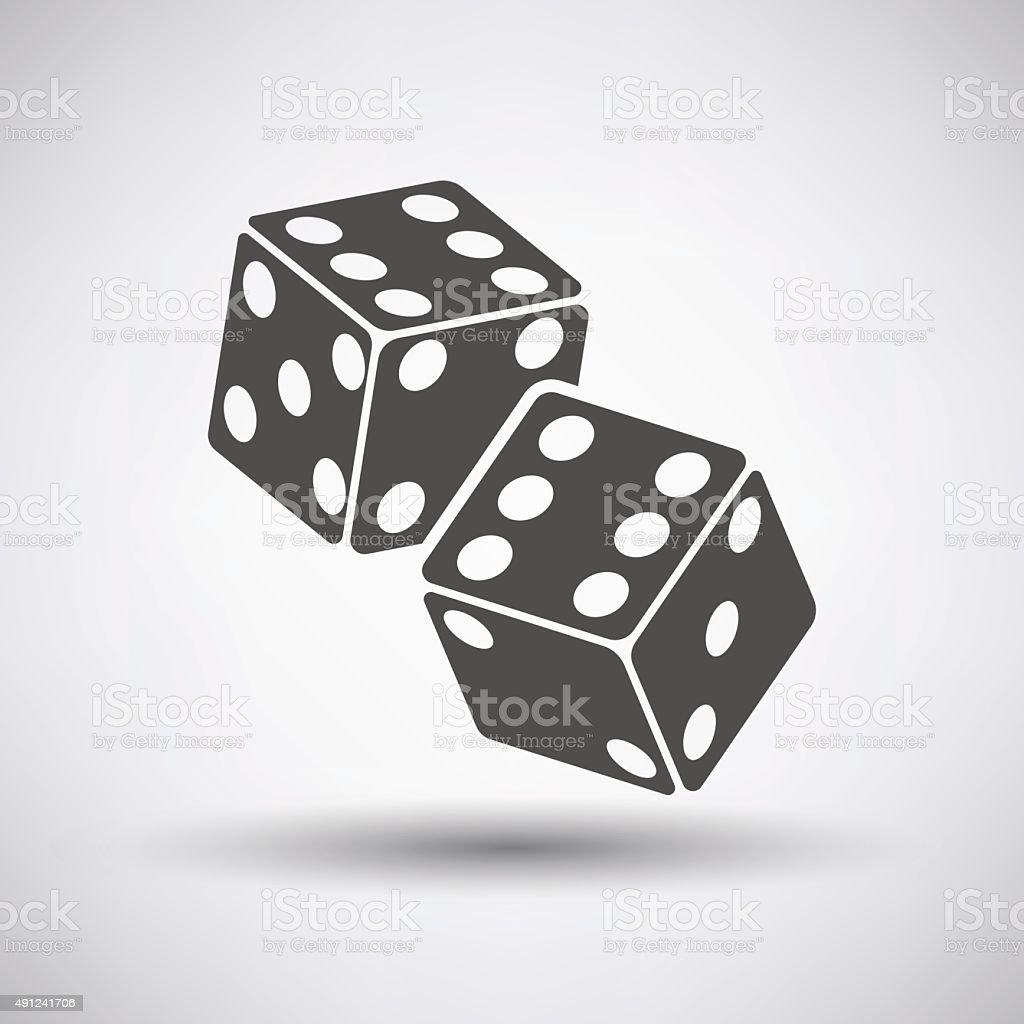 Craps Cubes Icon vector art illustration
