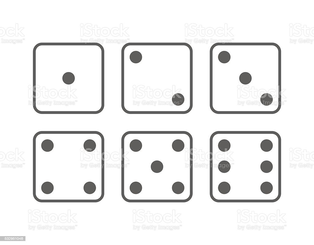 Craps icon set vector art illustration