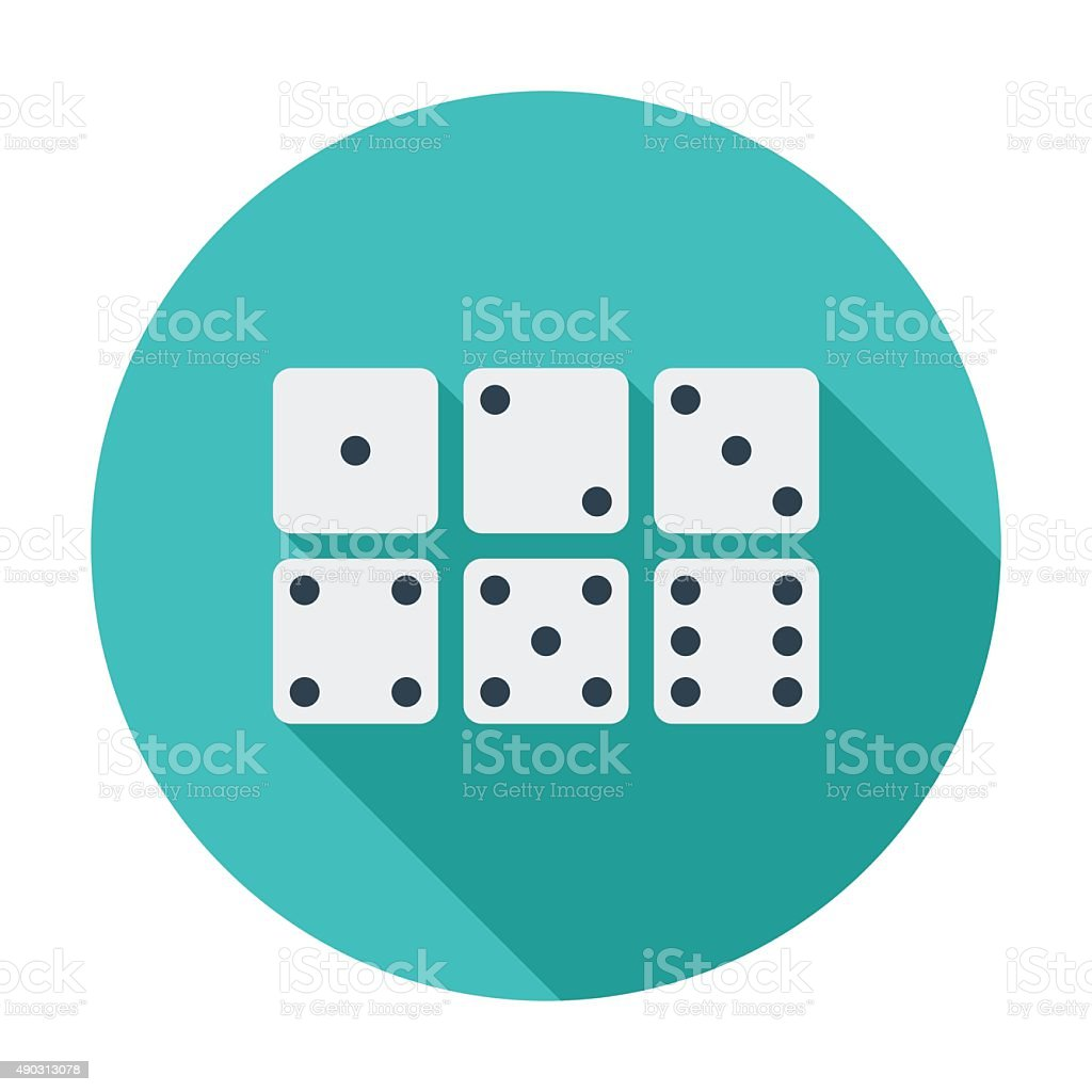 Craps icon vector art illustration