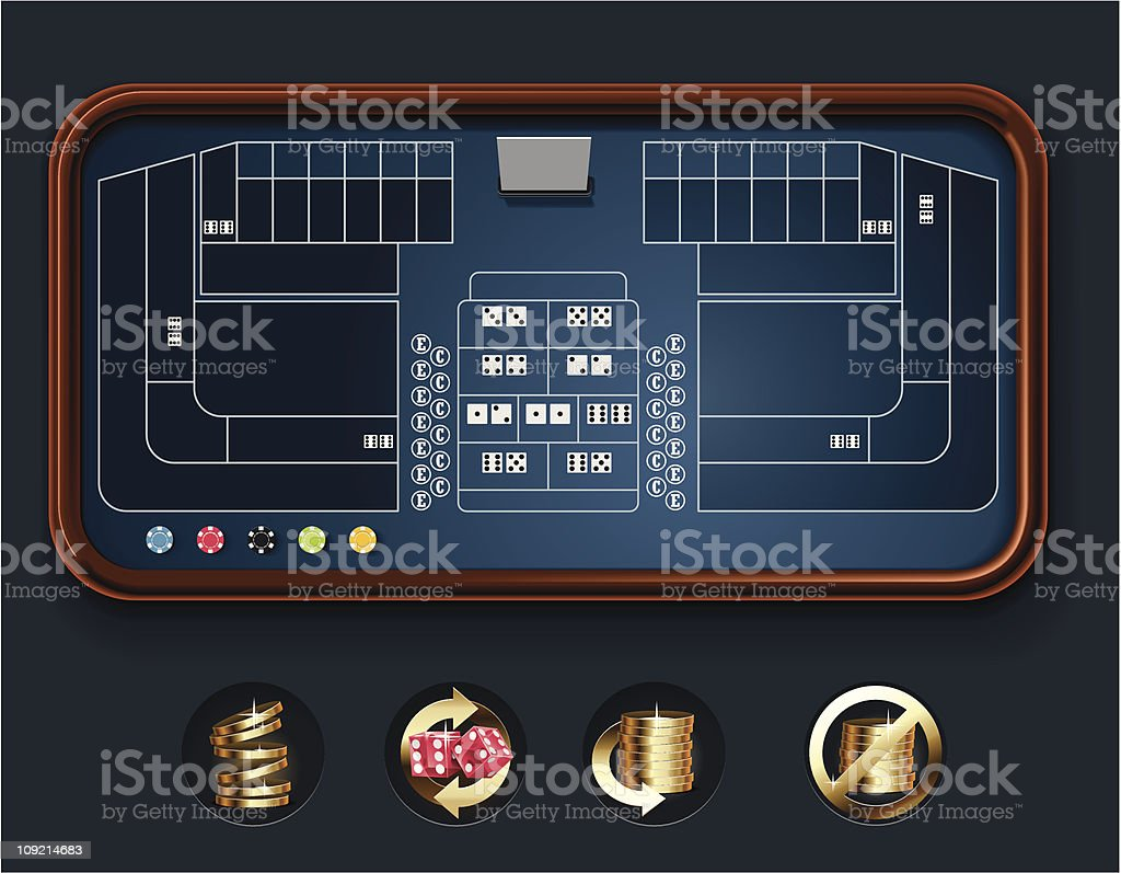 Craps table layout royalty-free stock vector art