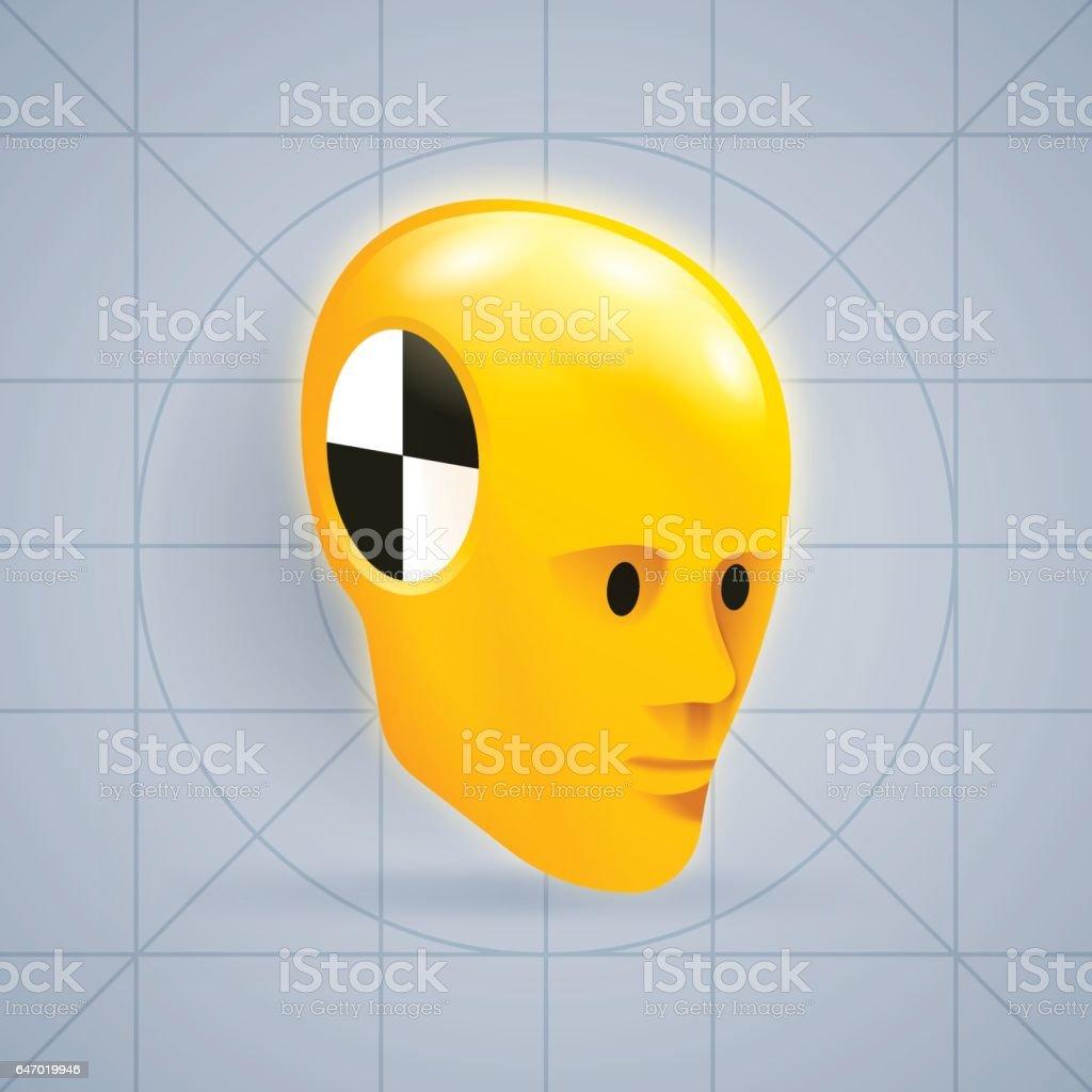 Crash Test Dummy vector art illustration