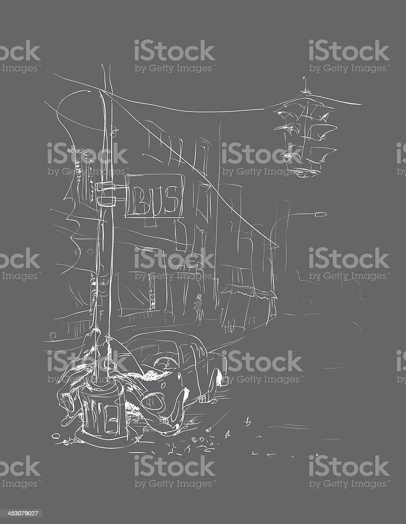 crash_grey royalty-free stock vector art
