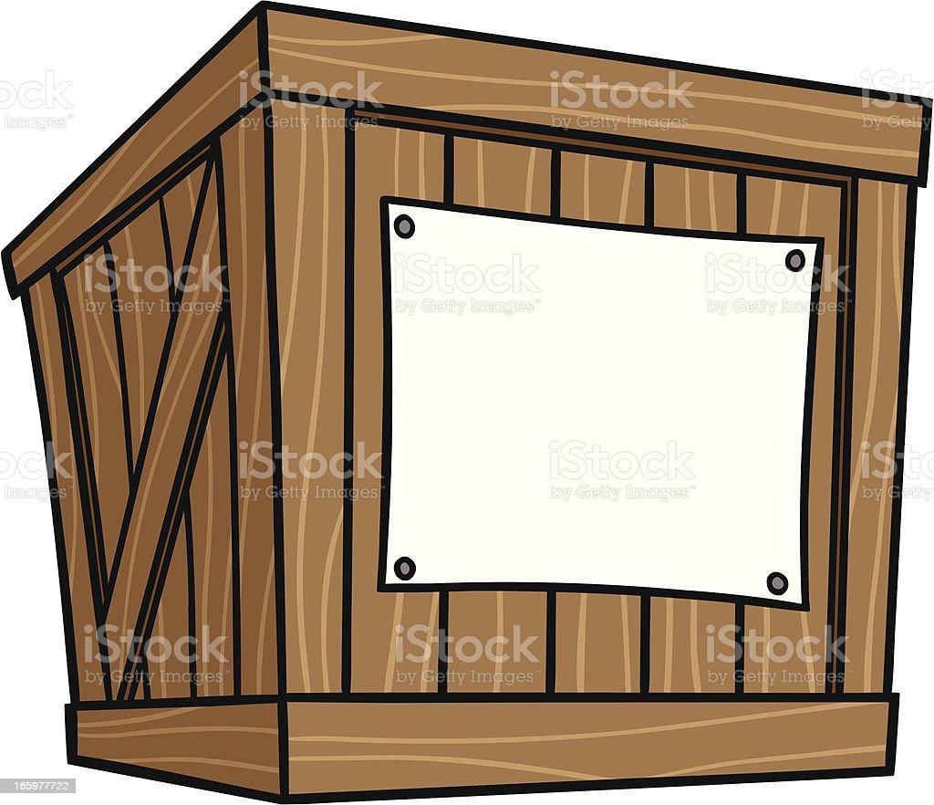 Crate Cartoon vector art illustration