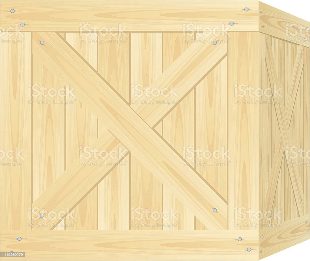 Crate vector art illustration