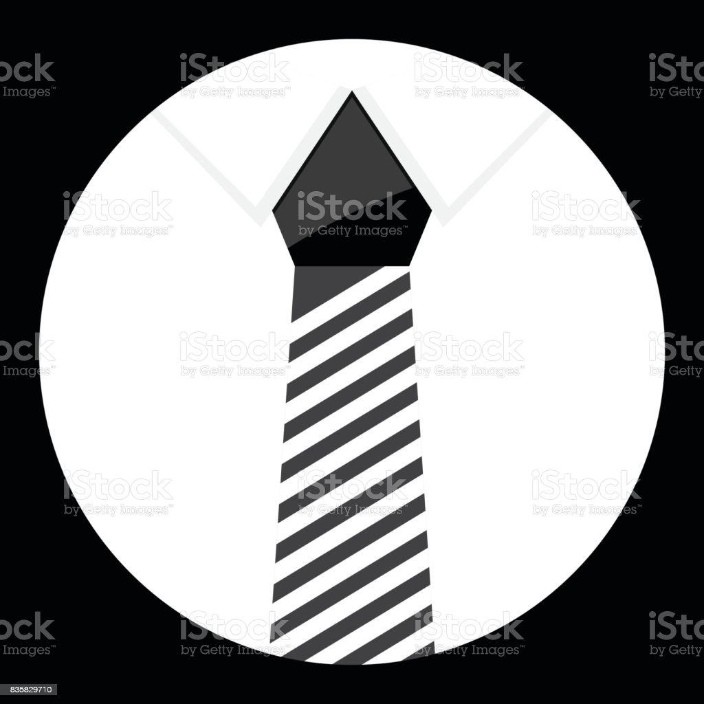 Cravat icon monochrome vector vector art illustration