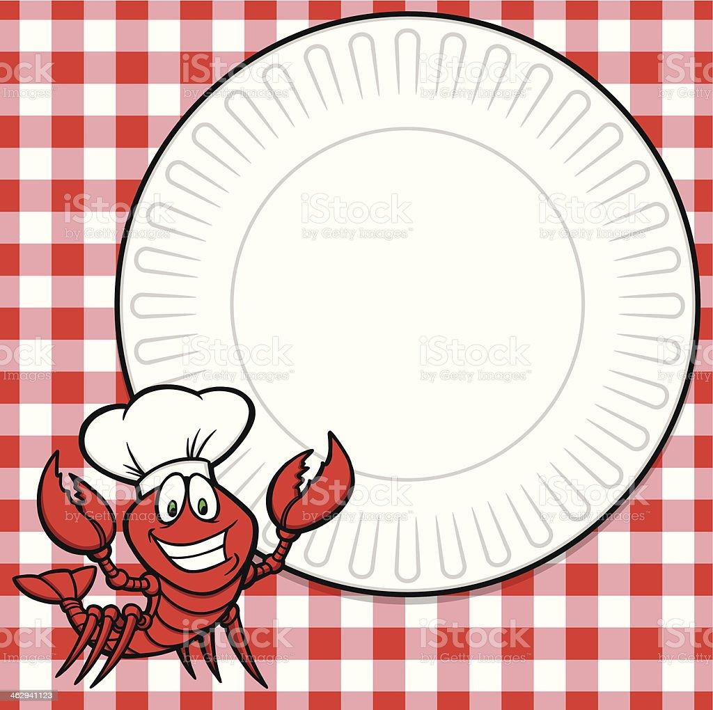 Crawfish Supper Invitation vector art illustration