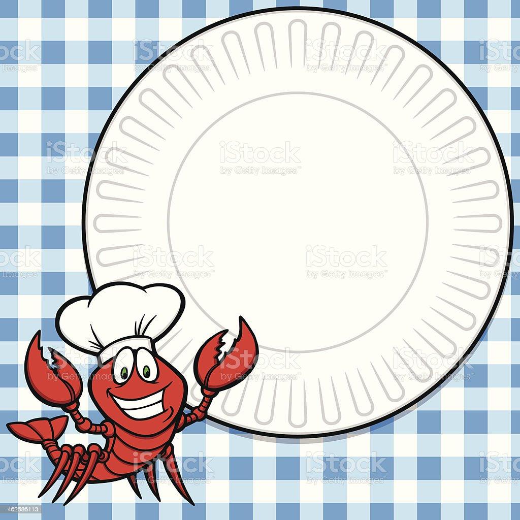 Crawfish Supper Invite royalty-free stock vector art