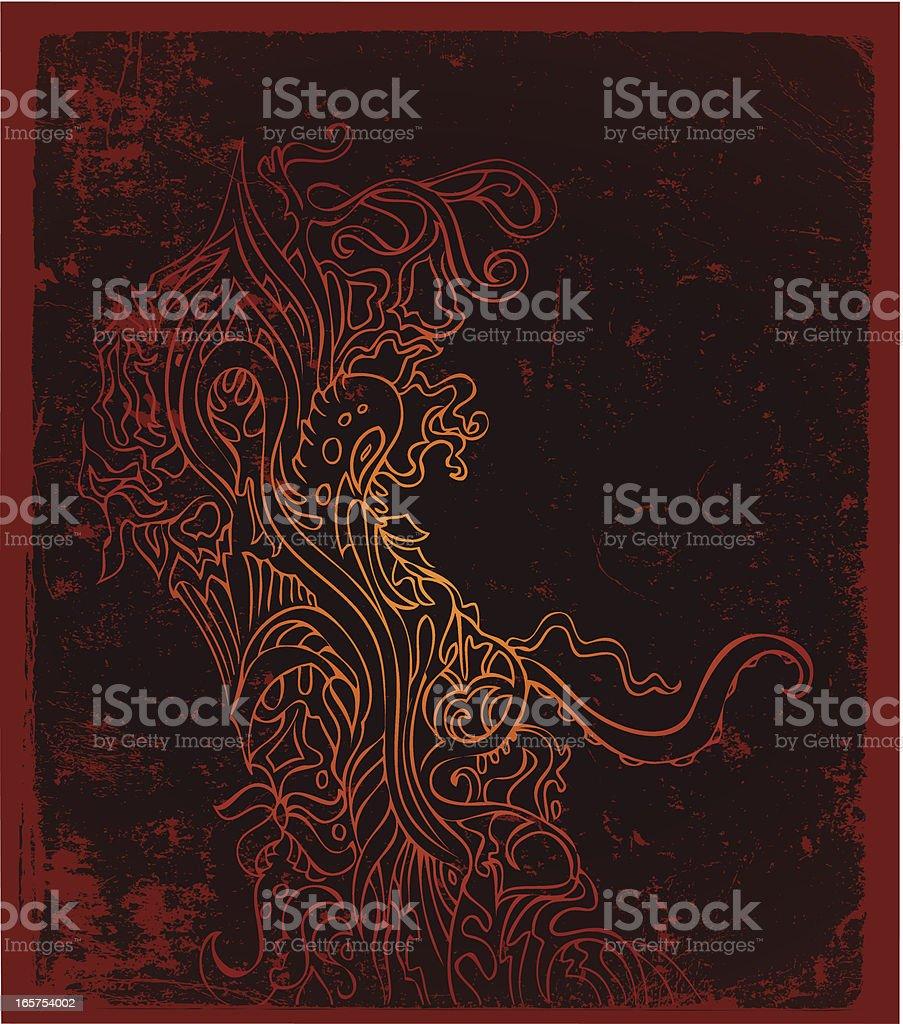 crawly creepy royalty-free stock vector art