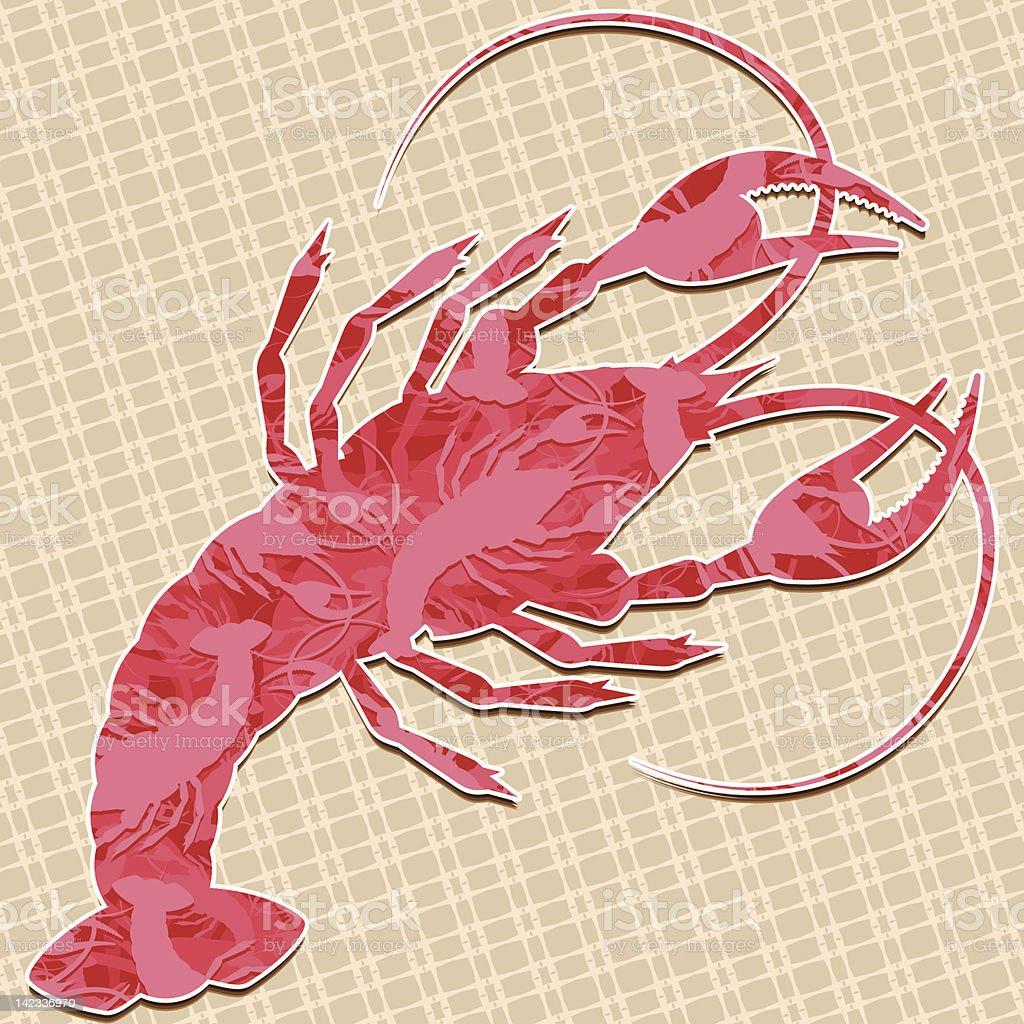 Crayfish royalty-free stock vector art