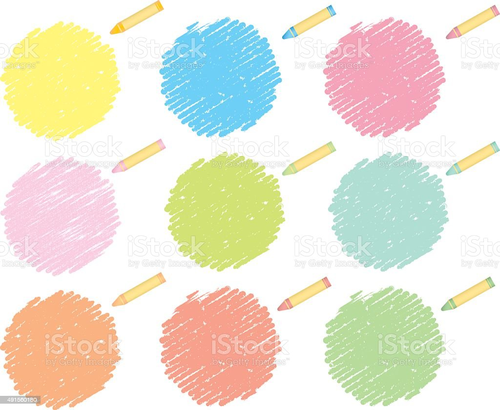 crayon collection Vector vector art illustration
