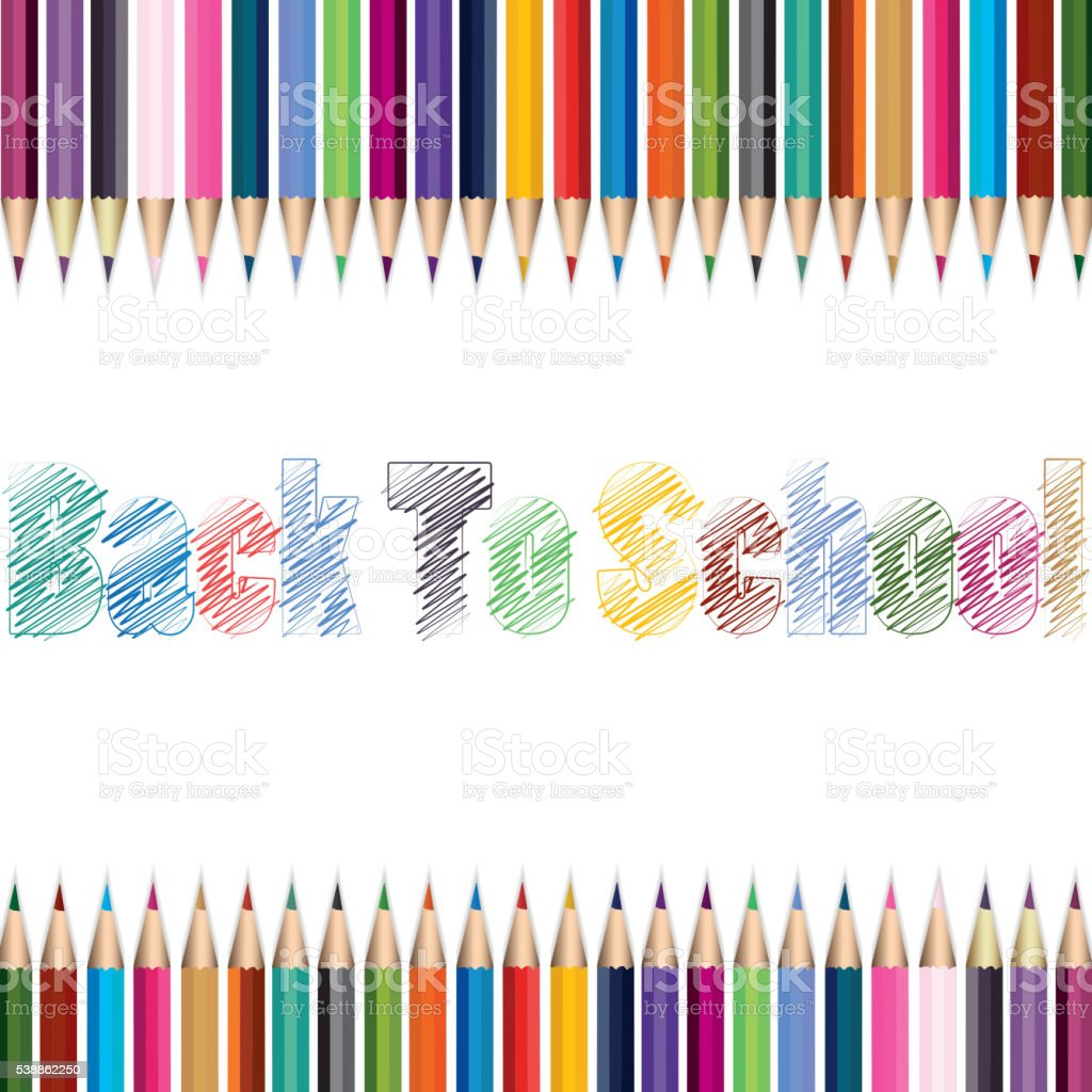 Crayons place is a mess vector art illustration