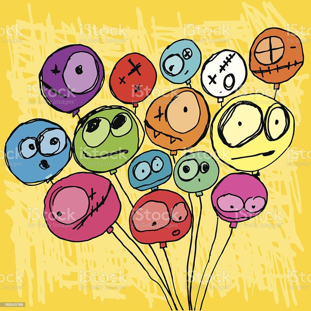 Crazy balloons! royalty-free stock vector art