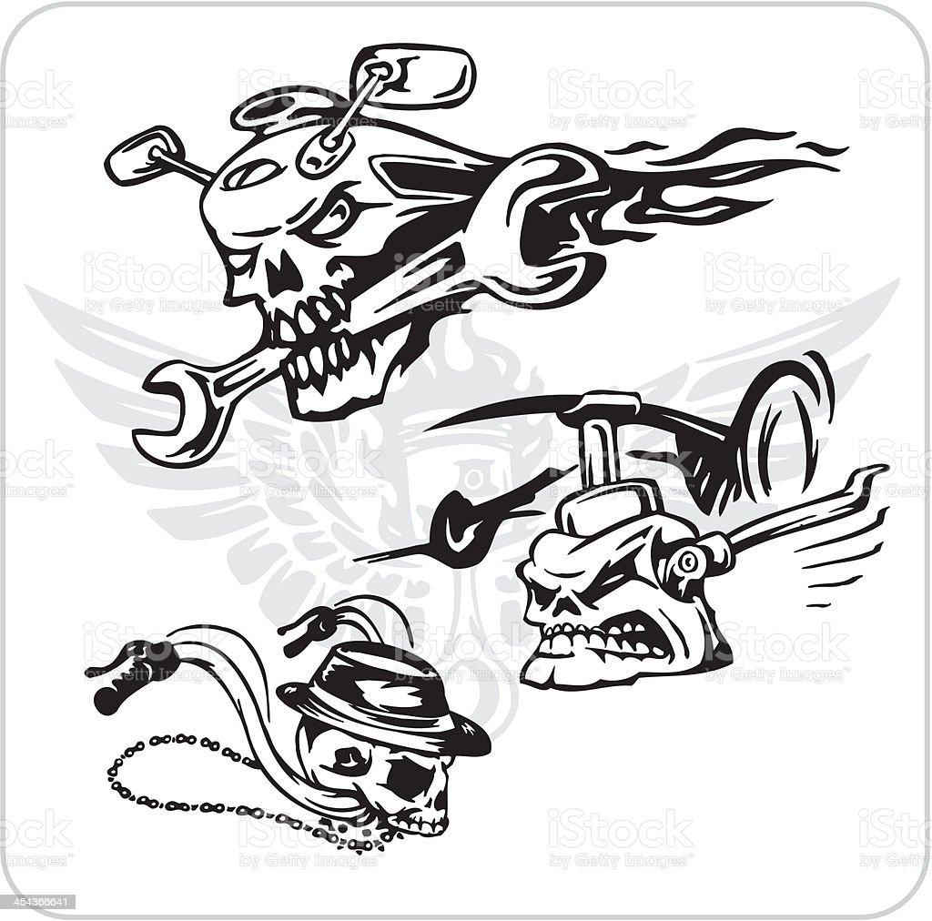 Crazy Drivers - Vinyl-ready vector illustration. royalty-free stock vector art