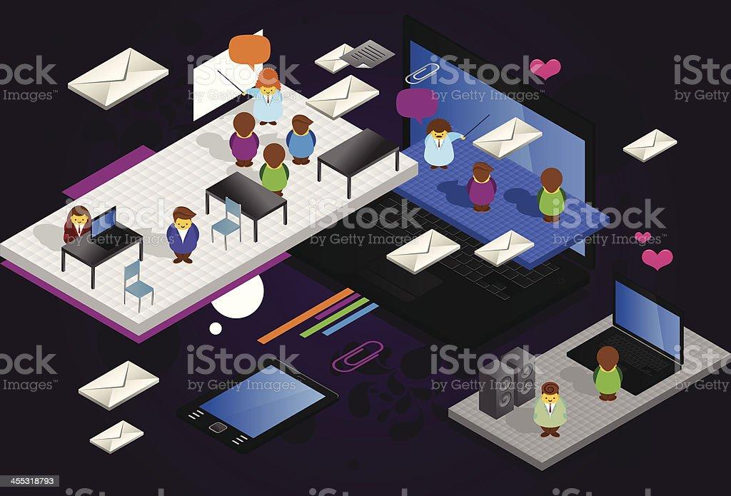 Crazy education center royalty-free stock vector art