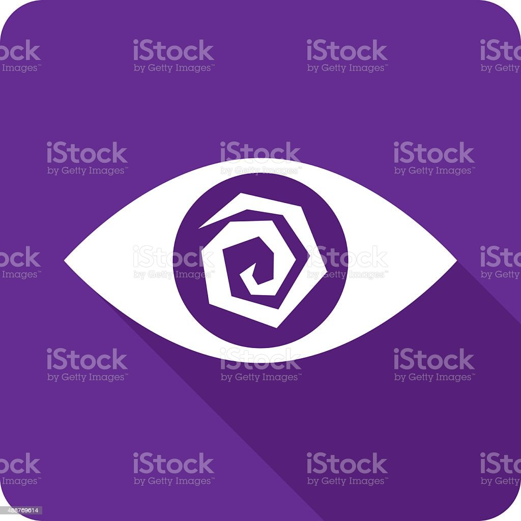 Crazy Eye Icon Silhouette vector art illustration