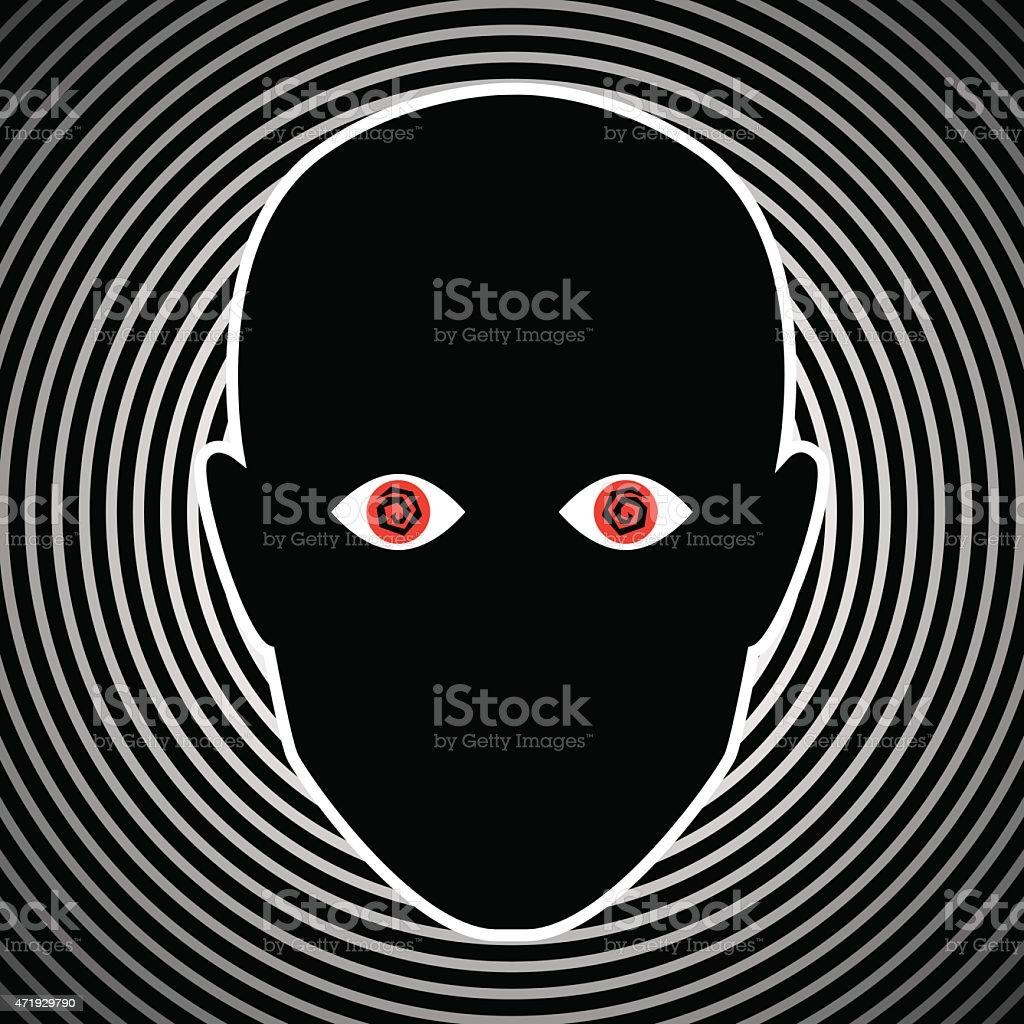 Crazy Eyes Face vector art illustration