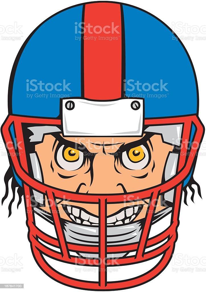 Crazy Football Player royalty-free stock vector art