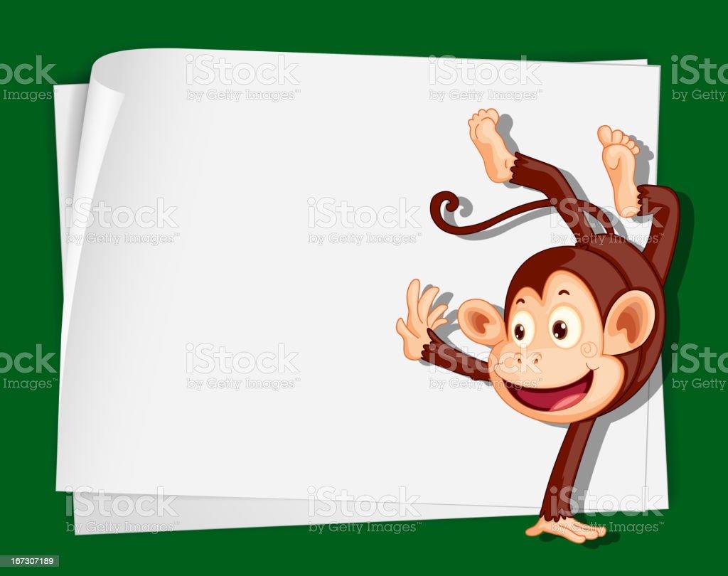 Crazy monkey royalty-free stock vector art