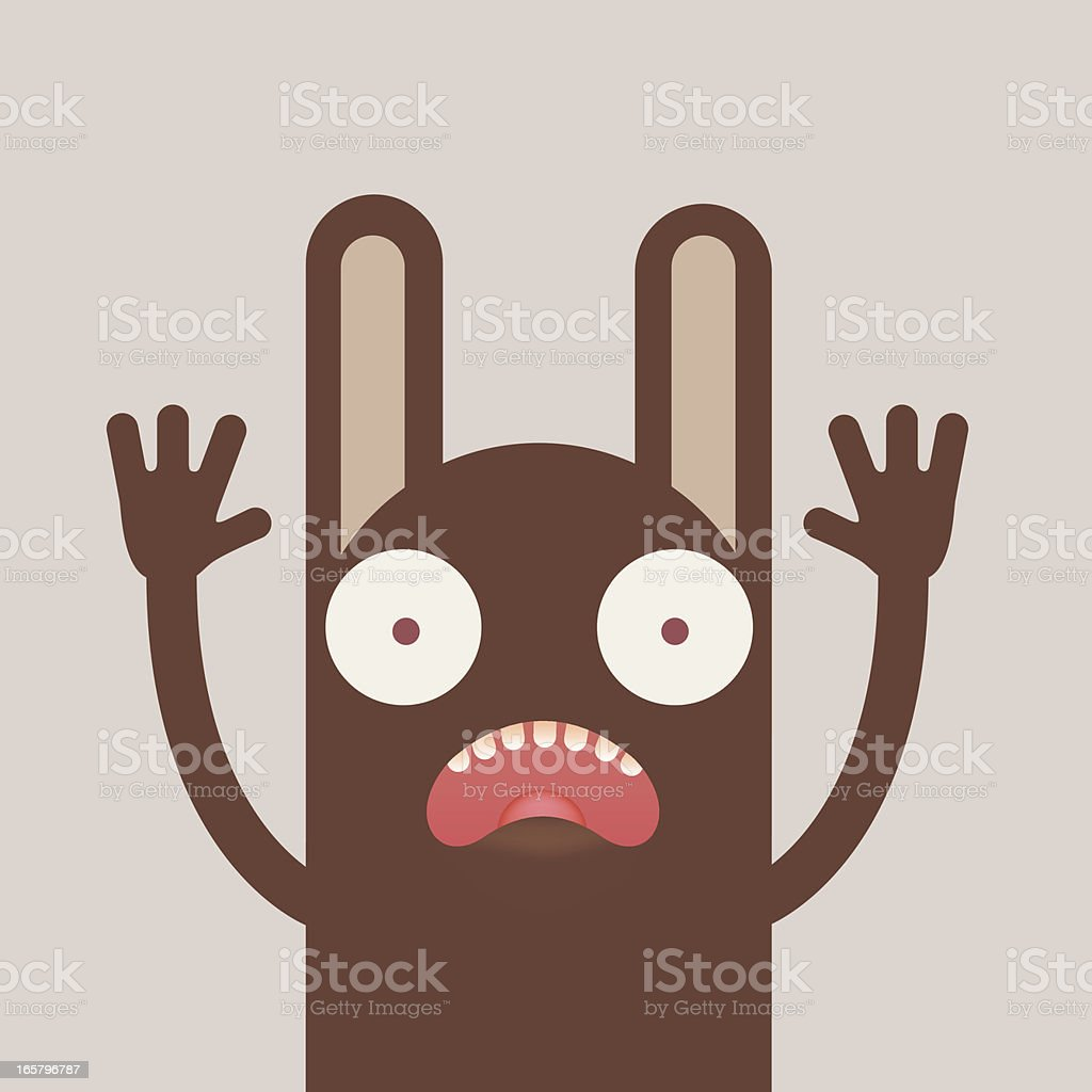 Crazy monster cartoon character vector art illustration