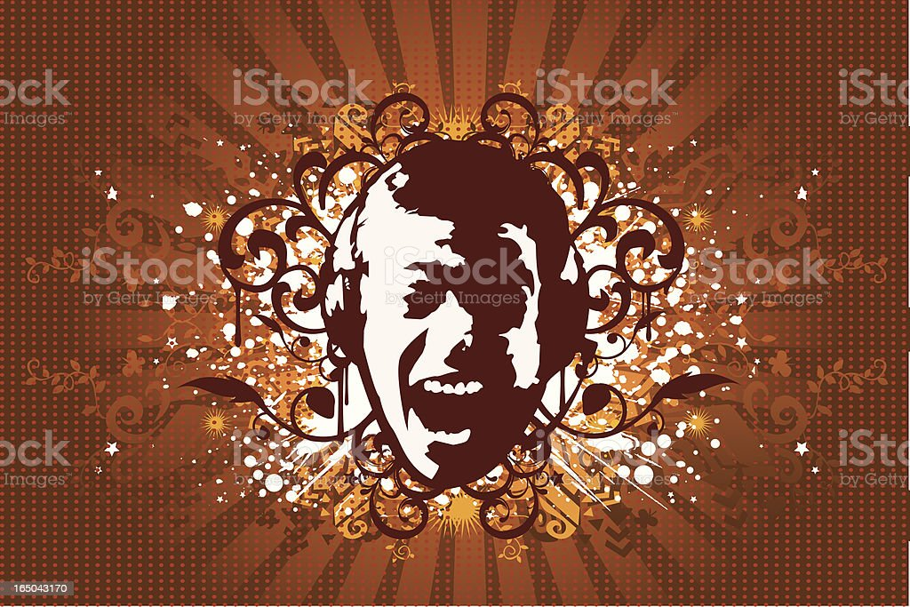 Crazy music design royalty-free stock vector art
