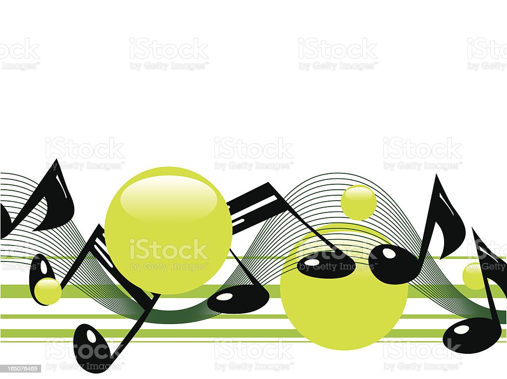 Crazy Music Notes royalty-free stock vector art