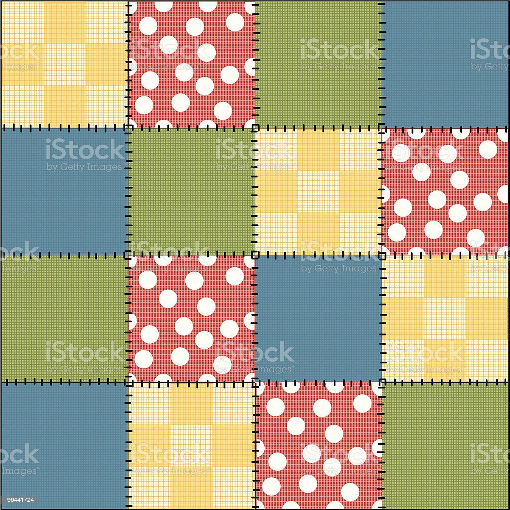 Crazy Patchwork Quilt royalty-free stock vector art