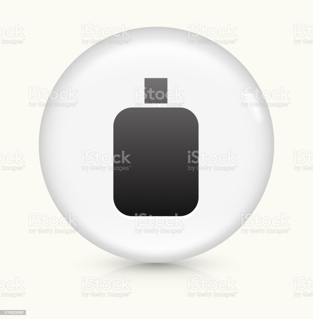 Cream Bottle icon on white round vector button vector art illustration