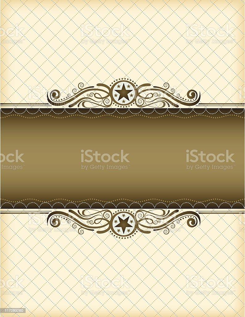 Cream Chesterfield Frame royalty-free stock vector art