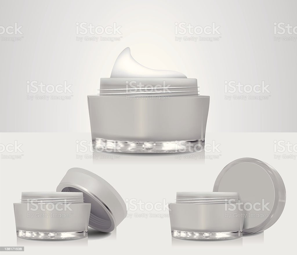 Cream Container royalty-free stock vector art