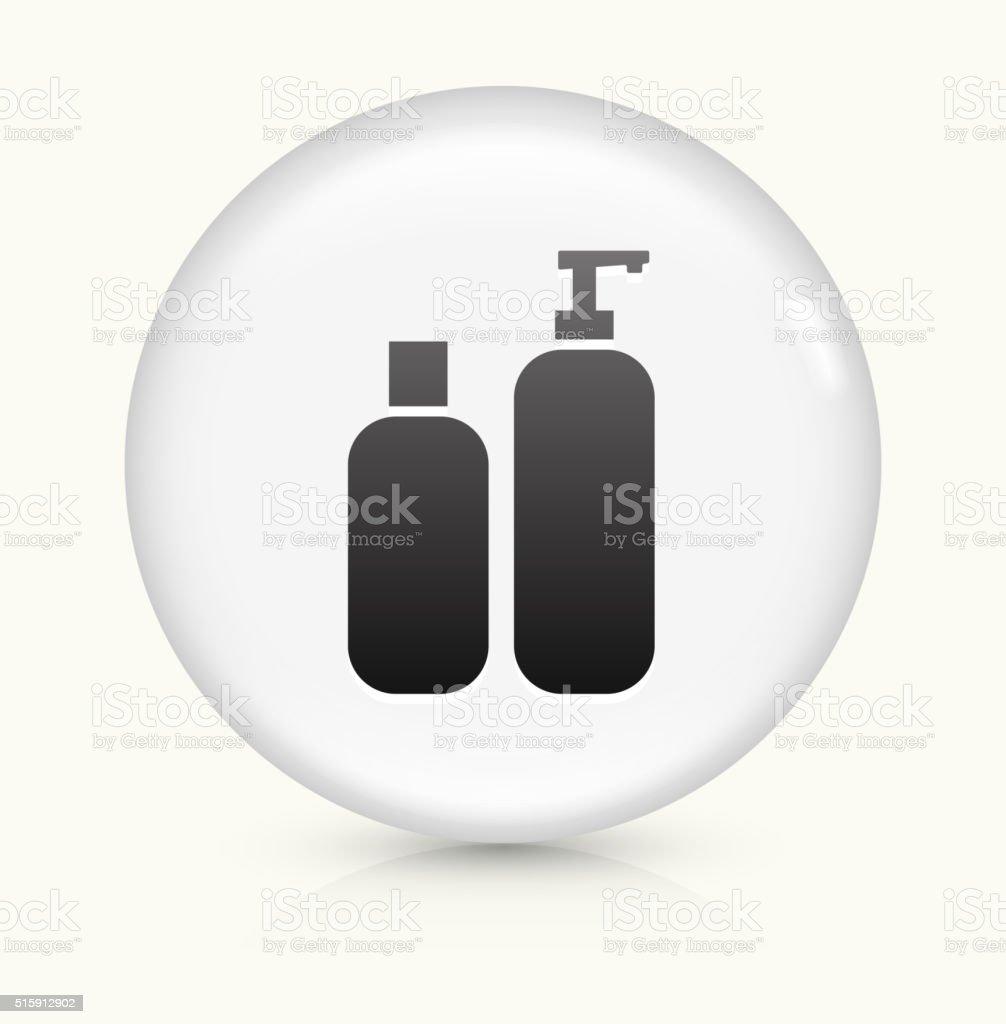Creams icon on white round vector button vector art illustration