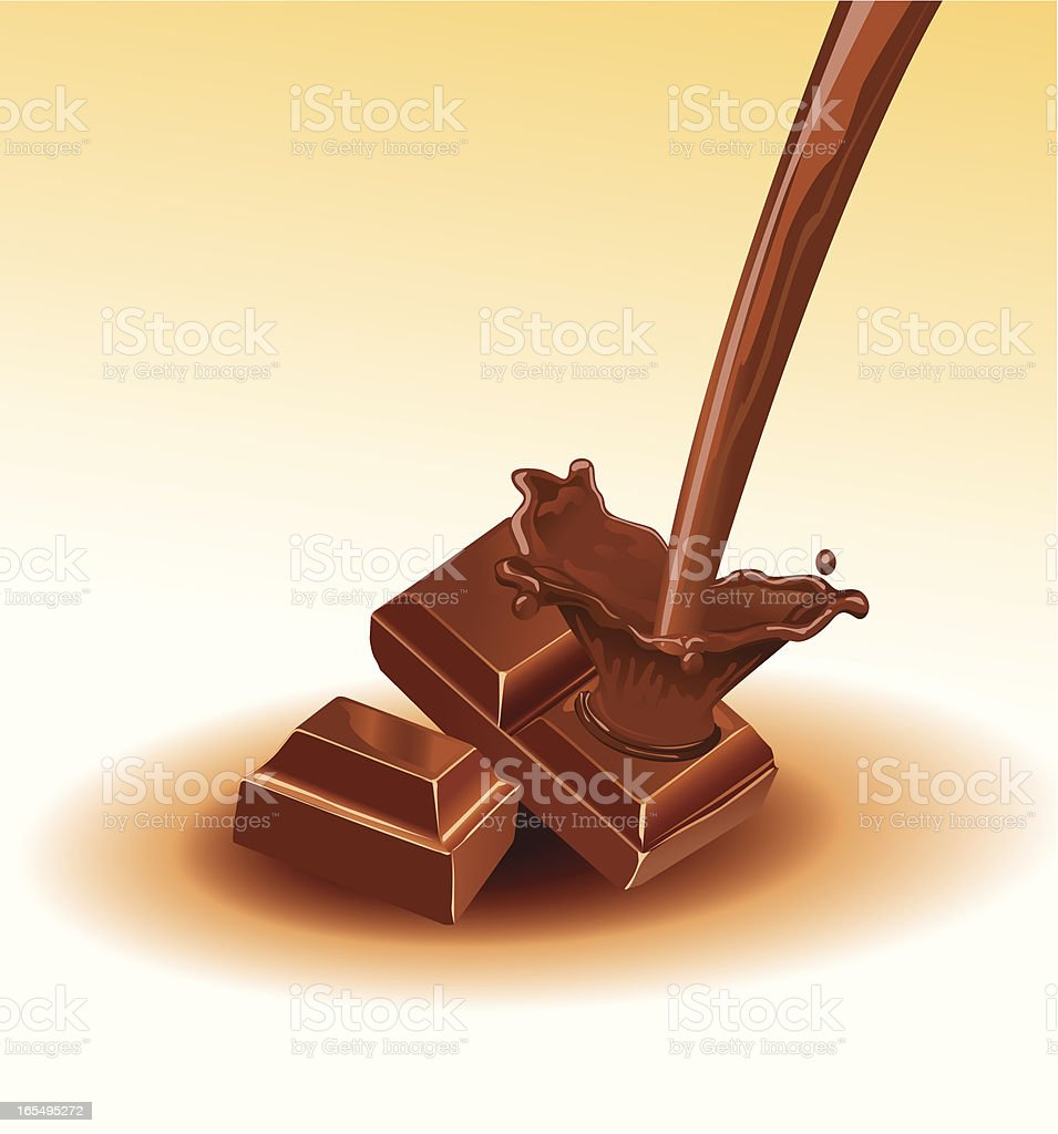 creamy chocolate royalty-free stock vector art