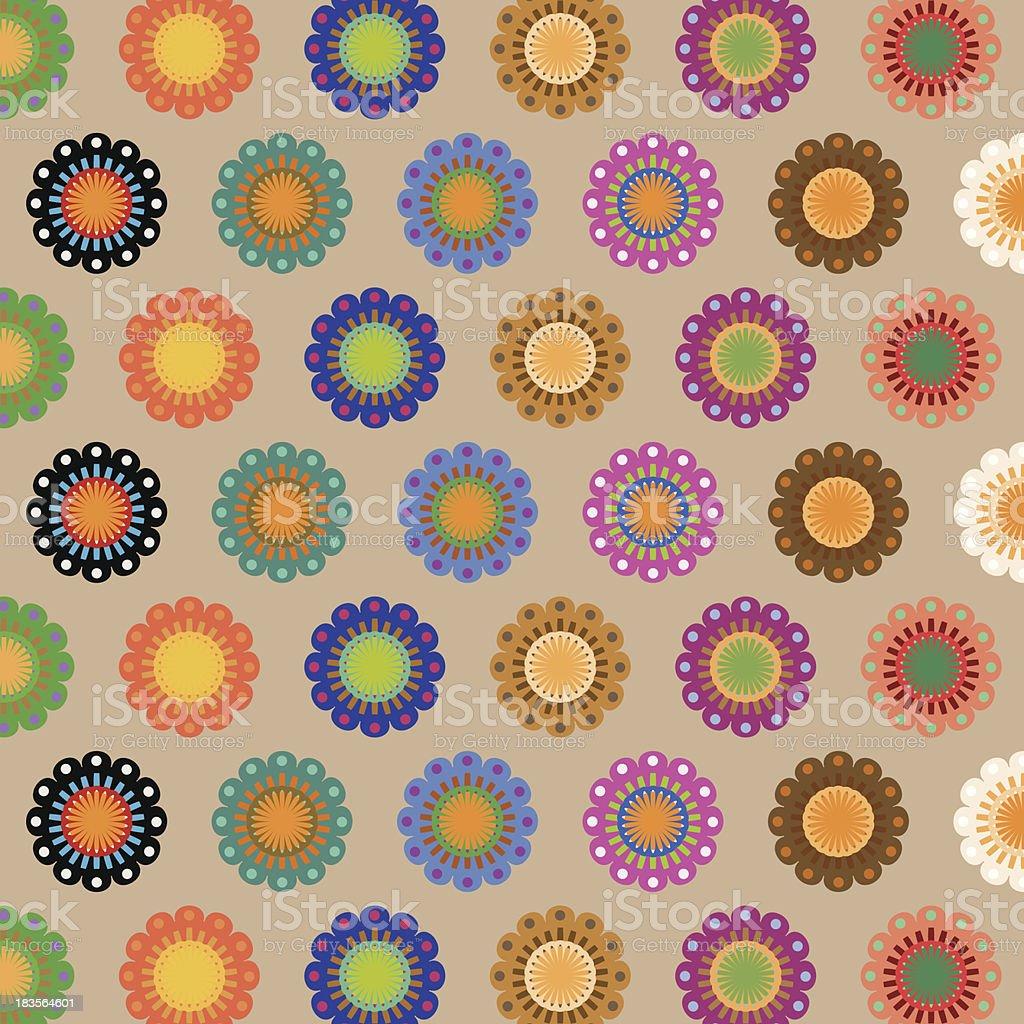 Create seamless folk flower pattern royalty-free stock vector art